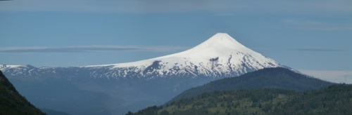 Volcan Villarica is clear as day for Sarah's birthday