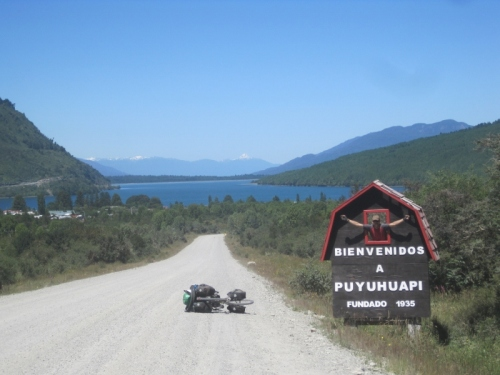 Welcome to Puyhuapi, Sarah's first fjord