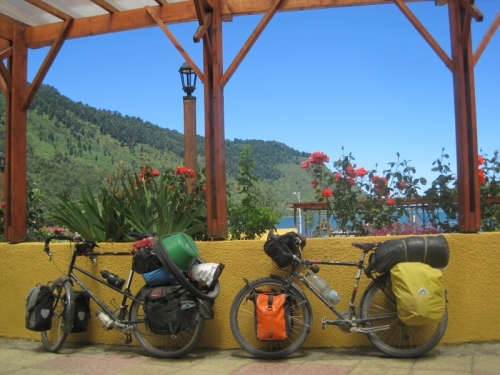 Our bikes in Puyahuapi, still going strong