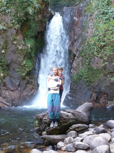 With the 'Cascada de la Virgin' halfway up the Rio Simpson