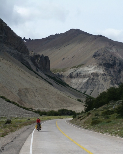The highest altitude of the route, and the scenery looks more like Bolivia, with not a glacier in sight