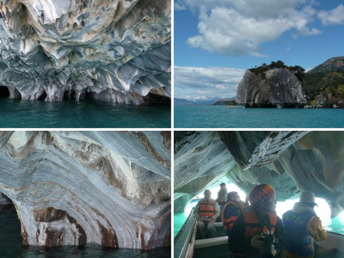 Geoff's marble caves excursion in a boat