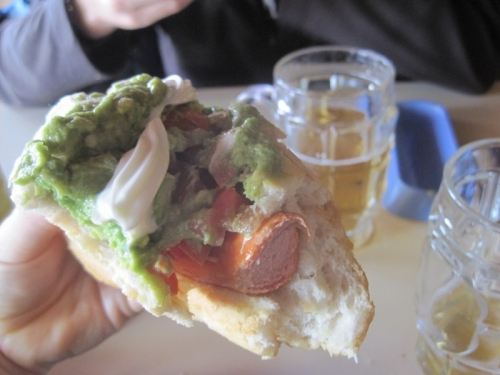 A last chance to enjoy a Chilean completo (hot dog)