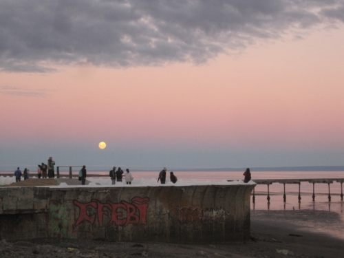 Our latest full moon experience at sunset in Punta Arenas