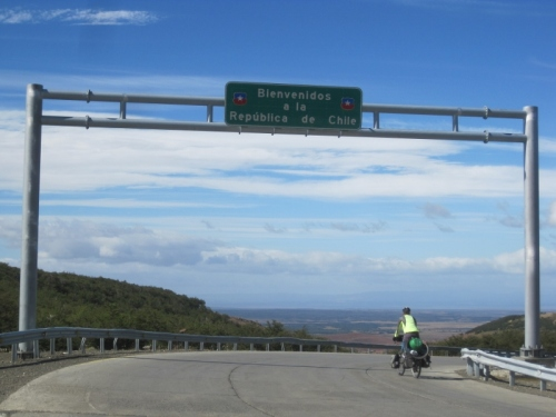 Entering Chile for the fifth time at Paso Dorotea from Rio Turbio