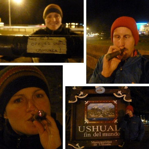 Various photos of cigar-smoking lunacy