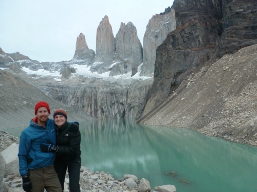 Up early for the Torres Del Paine sunrise: not as red as normal!