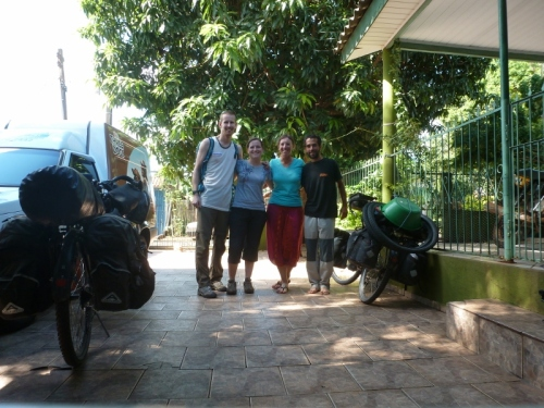 With Corinne and Joseba as we bid the casa de ciclista goodbye
