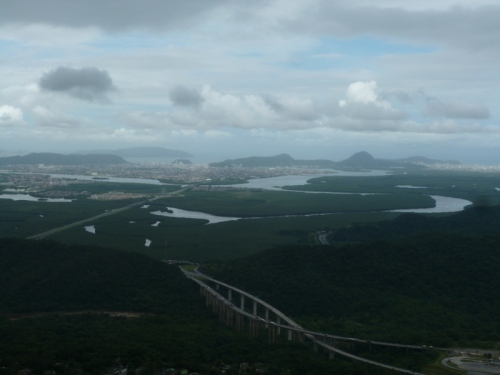 The 1000m vertical hillside from Sao Paulo to Santos gave great views down to our final destination!