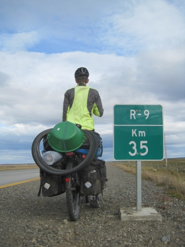 117km down, 35km to go: Punta Arenas in touching distance