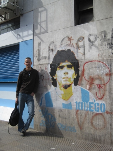 We wander round the famous Boca Juniors stadium, home to some famous players apparently...