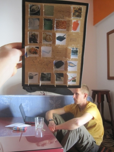 In Puerto Natales, Geoff had a good idea, and the 'countdown calendar' was born...a thing we've missed from home to open everyday