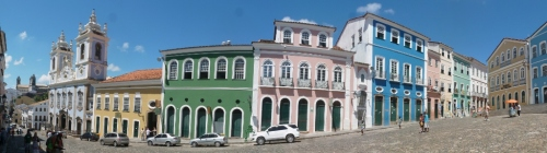 The well-preserved streets of Salvador, the old capital of Brazil
