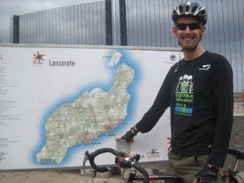 Bike touring round Lanzarote