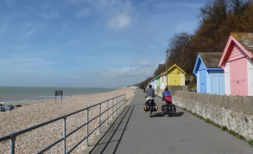 Much of our time on the South coast was spent along shed-lined promenades